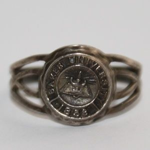 Jewelry - Sterling Baker College Michigan ring 4.5